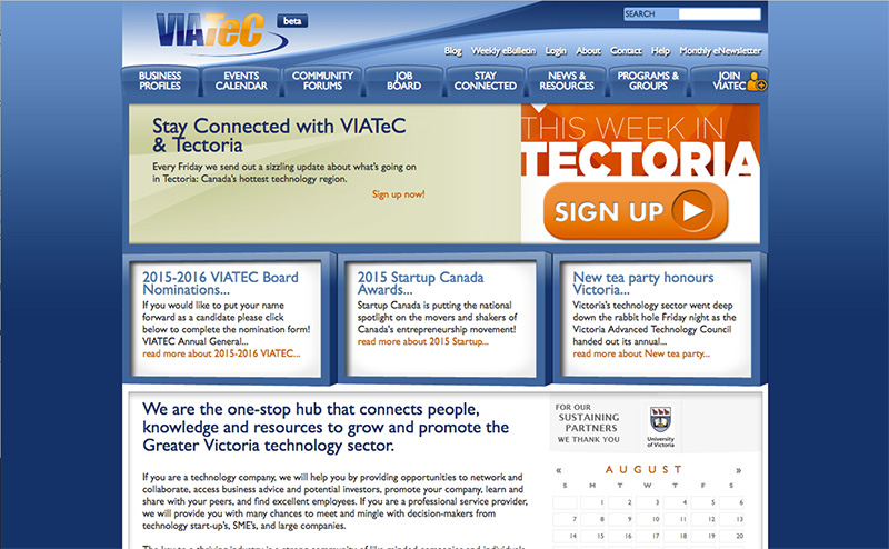 Viatec's old website