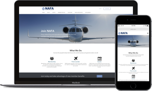 Responsive websites for non-profits and member-based organizations.