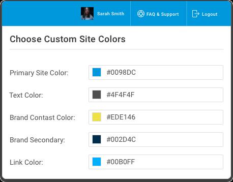 Membership widgets integrate with existing websites.